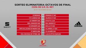 قرعة دور الـ 16 من كأس ملك إسبانيا