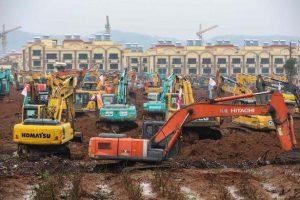 بناء مستشفي بالصين لعلاج مرضى الكورونا