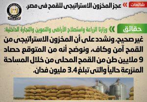بيان الوزراء حول مخزون القمح
