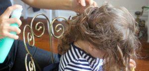 تشابك الشعر لدى الاطفال