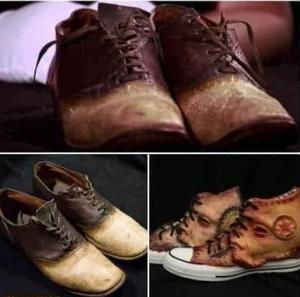 أحذية من جلد البشر