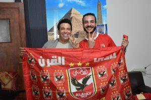 سعد الصغير مع محرر « أوان مصر » الأهلاوي