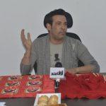النجم الشهير « سعد الصغير » أثناء ندوته لتكريمه فى موقع «أوان مصر »»