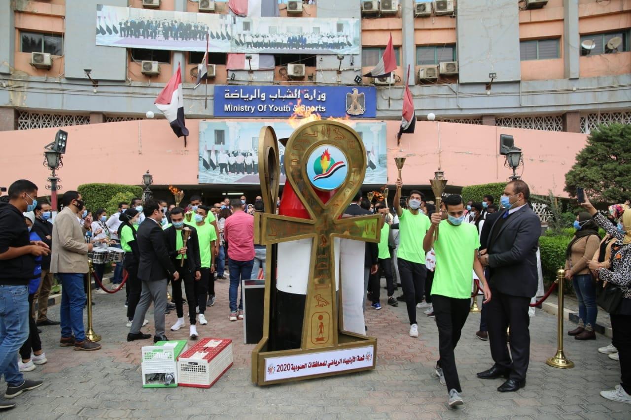 صبحي يطلق شعلة الأولمبياد الرياضي للمحافظات الحدودية
