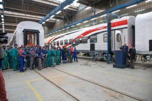 السفير المصري يشارك في مراسم الاحتفال بتوريد الدفعة الأولى من عربات القطارات المصنعة بالمجر