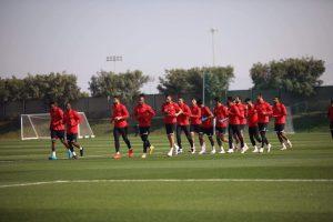 لاعبي القلعة الحمراء من الدوحة