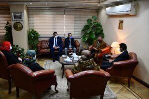 وزير الرياضة يجتمع برؤوساء اتحاد السلة