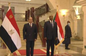 السيسي - رئيس مجلس السيادة السوداني