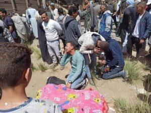جثة مفصولة الرأس بحادث قطاري سوهاج