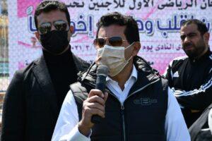 أشرف صبحي يشهد فعاليات المهرجان الرياضي الأول للمقيمين بـ مصر