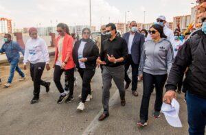 ماراثون اليوم الرياضي للمرأة بحي الأسمرات