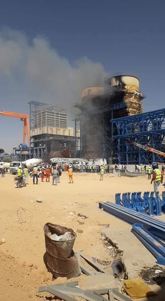 حريق مصنع السكر بمدينة ملوي