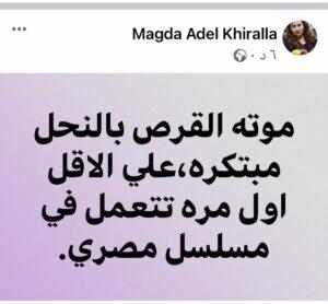 ماجدة عادل خيرالله تعلق على مسلسل لعبة نيوتن
