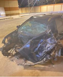 صور حادث السيارة