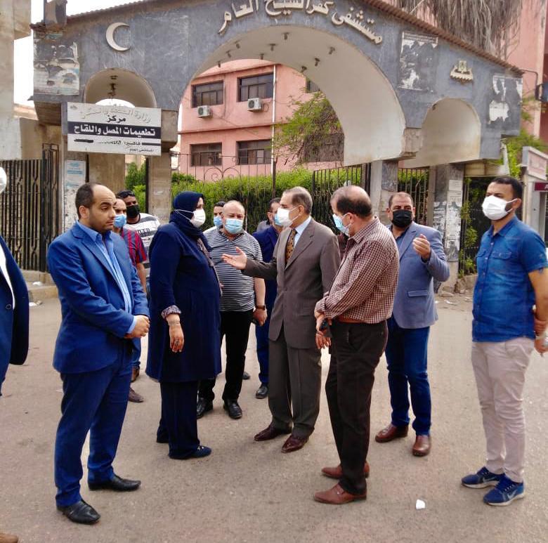 محافظ كفر الشيخ يتابع تطورات حريق مستشفى الصدر