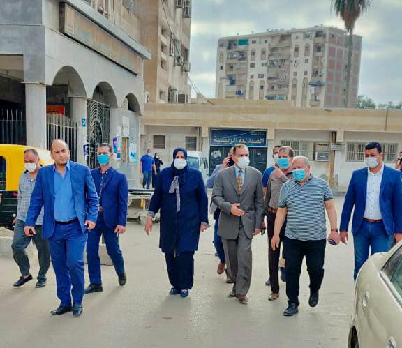 محافظ كفر الشيخ يتابع حريق مستشفى الصدر