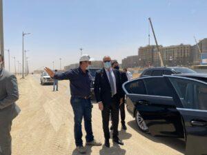 وزير الإسكان يتفقد العاصمة الادارية الجديدة