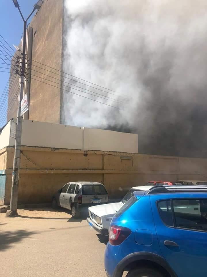 حريق في مستشفى سوهاج