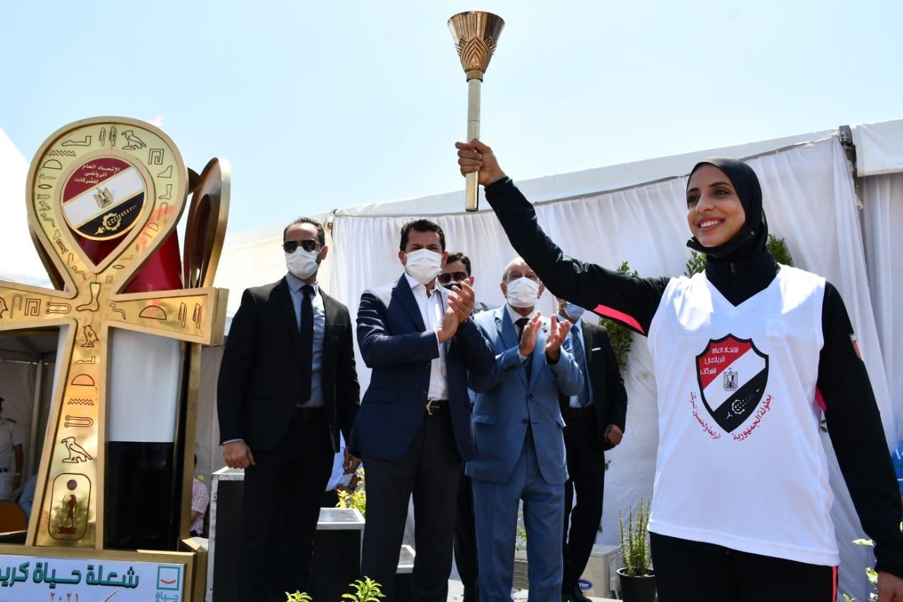 أشرف صبحي يفتتح بطولة الجمهورية للشركات