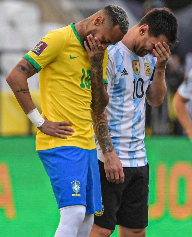 نيمار وميسي من مباراة البرازيل والأرجنتين